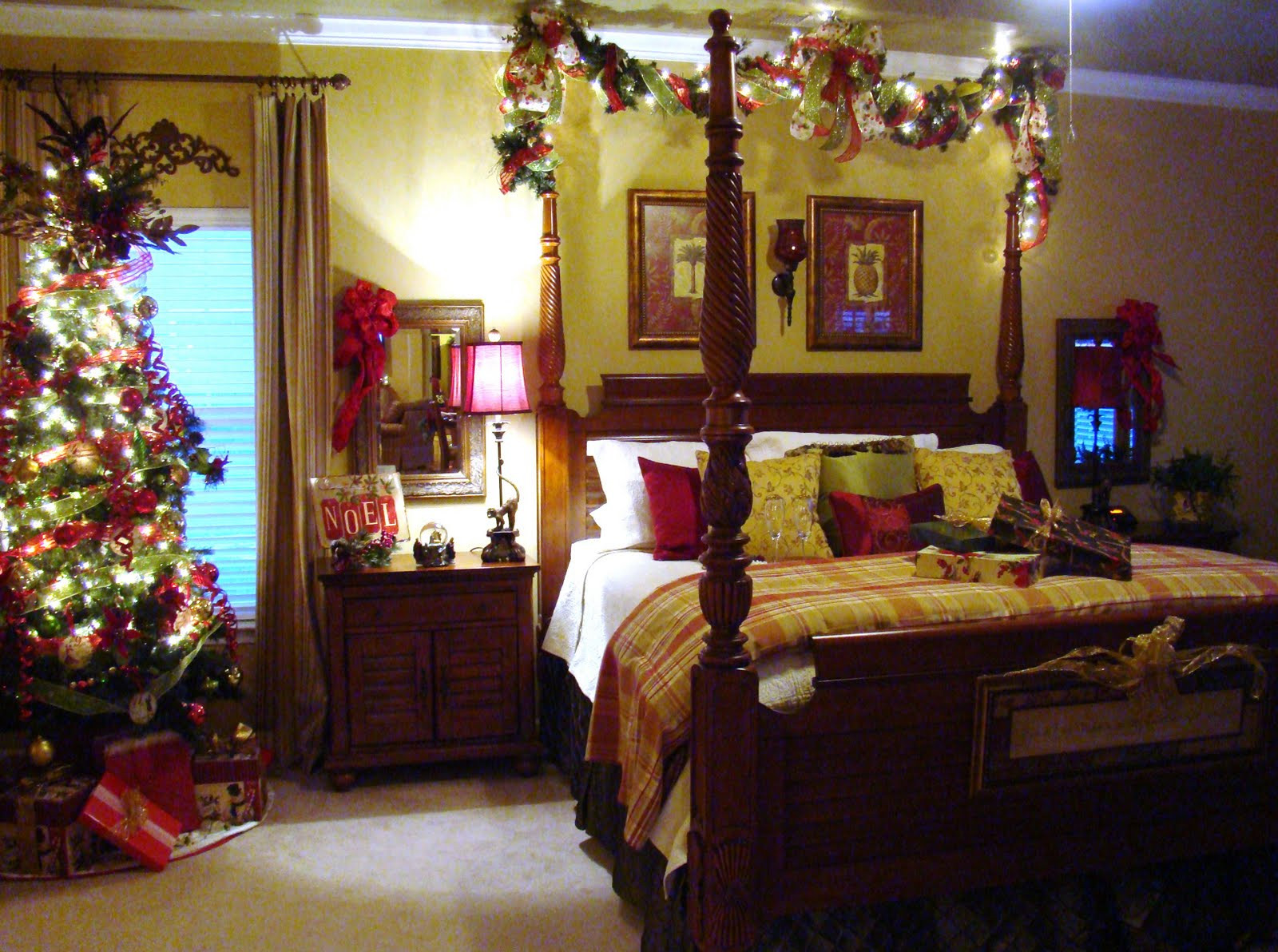 "Christmas Bedroom Decor  Adventures in Decorating Master Bedroom Gets a New ""Do"""