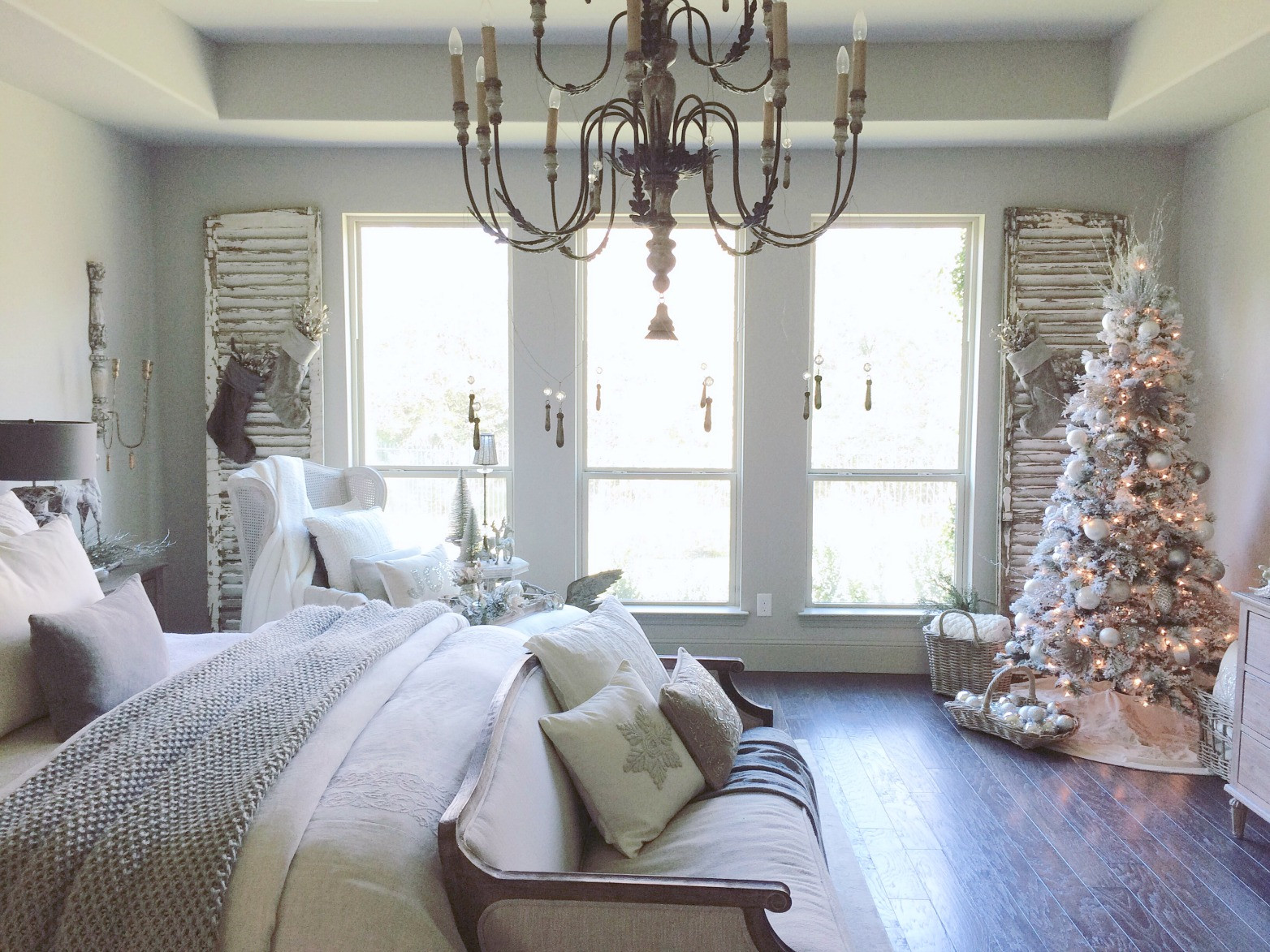 Christmas Bedroom Decor  Decor Gold Room Tour Just a Girl Blog