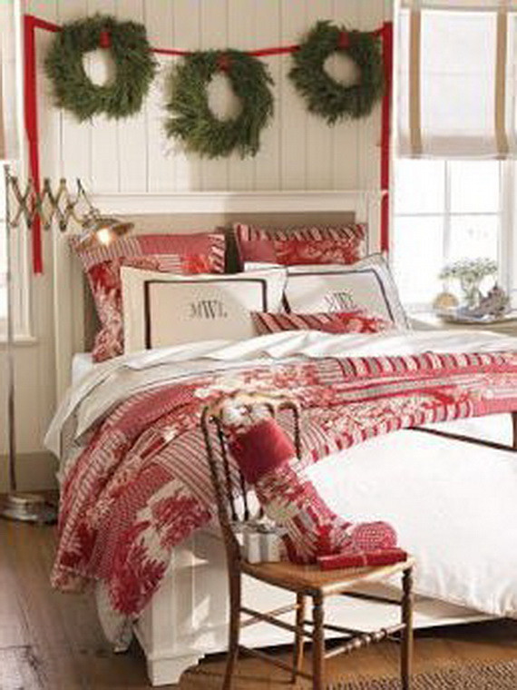 Christmas Bedroom Decor  Elegant Interior Theme Christmas Bedroom Decorating Ideas