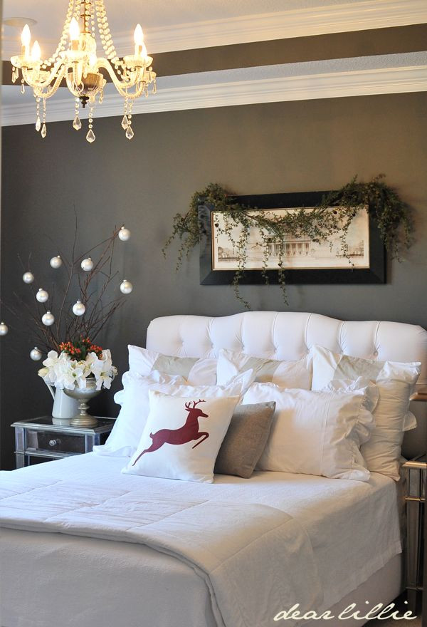 Christmas Bedroom Decor  Cozy Christmas Bedroom Decorating Ideas Festival Around