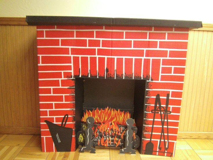 Christmas Cardboard Fireplace  61 best Vintage Cardboard Fireplaces images on Pinterest