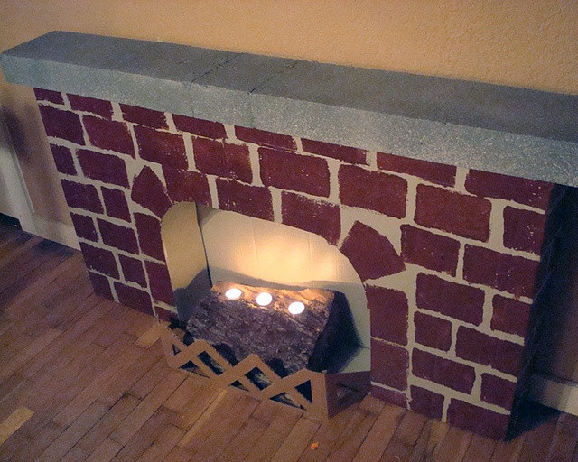 Christmas Cardboard Fireplace  8 best Crafts Cardboard fireplaces images on Pinterest
