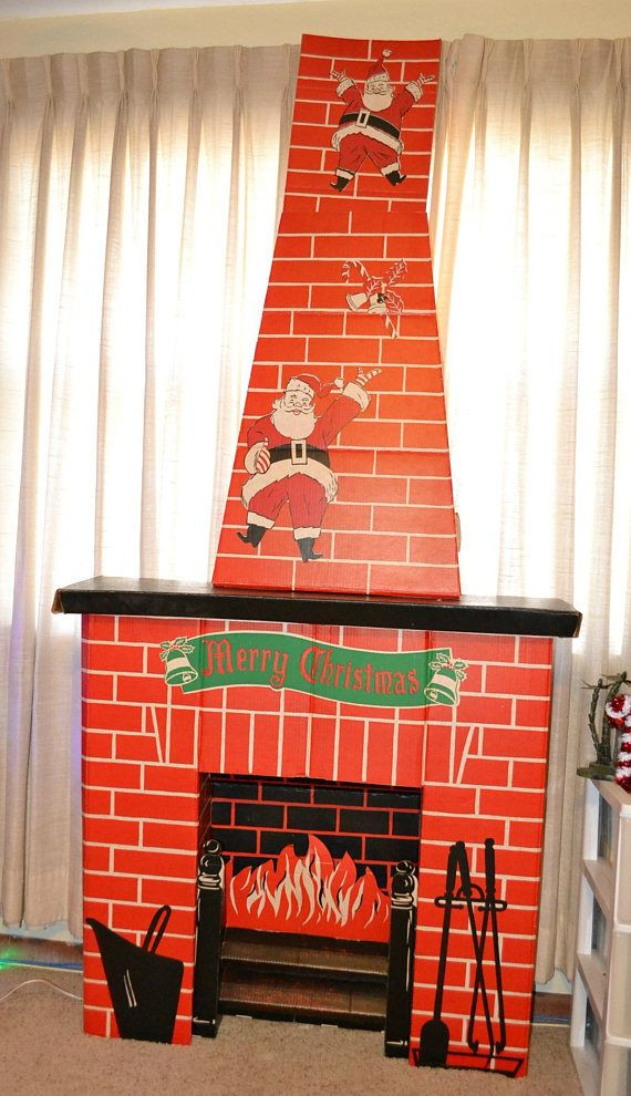 Christmas Cardboard Fireplace  Best 25 Cardboard fireplace ideas on Pinterest