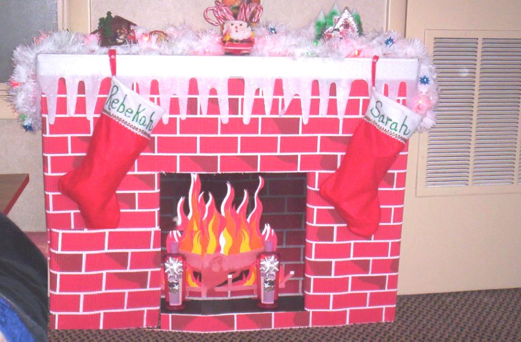 Christmas Cardboard Fireplace  The World's Weirdest Christmas Custom for Kid s