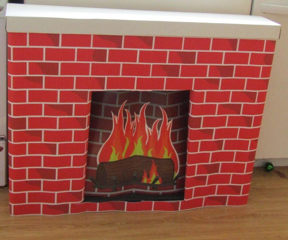 Christmas Cardboard Fireplace  New Bemiss Jason COROBUFF Cardboard Christmas HOLIDAY