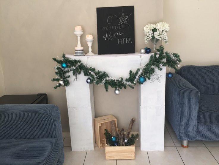 Christmas Cardboard Fireplace  12 Tutorials to Make a Cardboard Fireplace