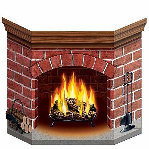 Christmas Cardboard Fireplace  3D Christmas Cardboard Fireplace Santa Gift Child Safe