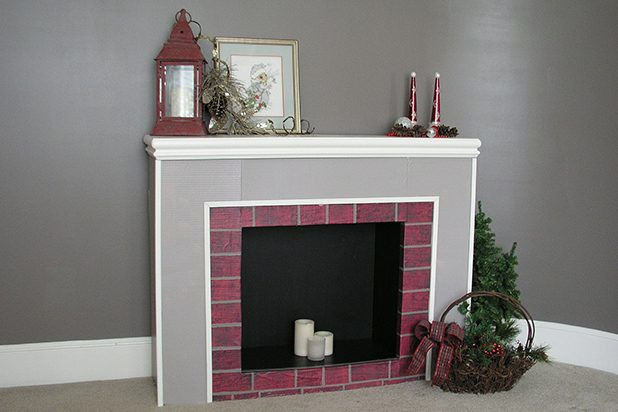 Christmas Cardboard Fireplace  How to Make a Cardboard Christmas Fireplace with