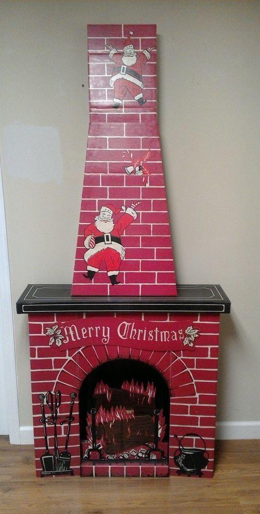 Christmas Cardboard Fireplace  Best 25 Christmas fireplace ideas on Pinterest