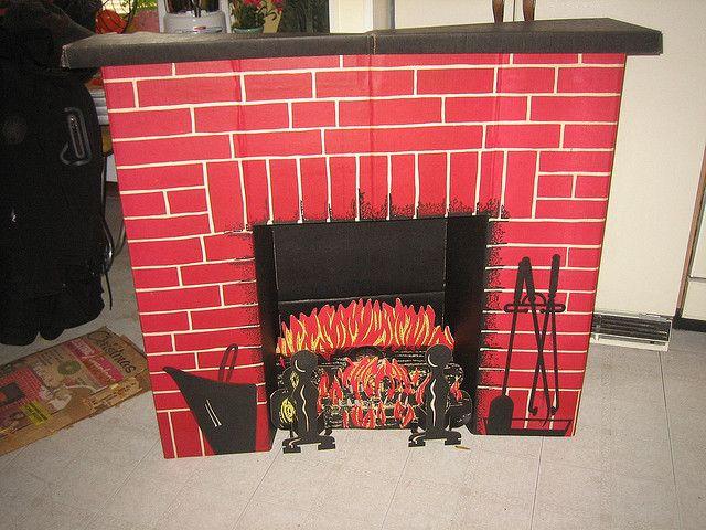 Christmas Cardboard Fireplace  My cardboard fireplace We had this