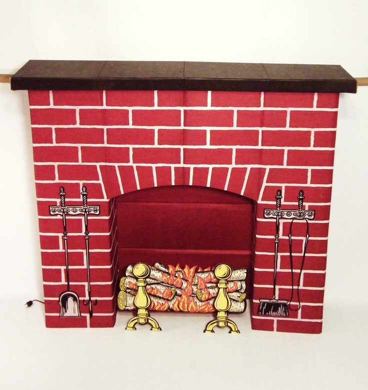 Christmas Cardboard Fireplace  17 Best images about Cardboard fireplaces on Pinterest