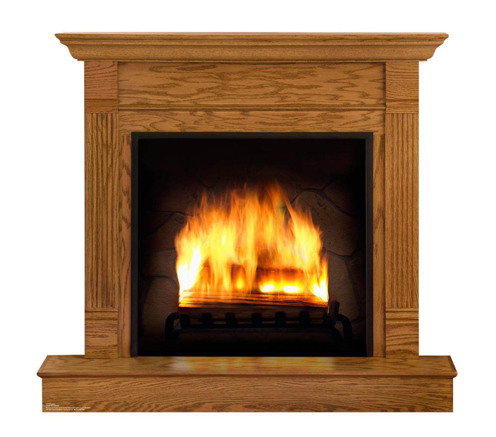 Christmas Cardboard Fireplace  Fake Fireplace Life Size Cardboard Cutout Standup