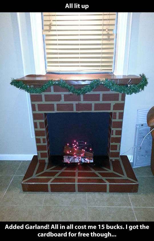 Christmas Cardboard Fireplace  How to make your own cardboard fireplace The Meta Picture