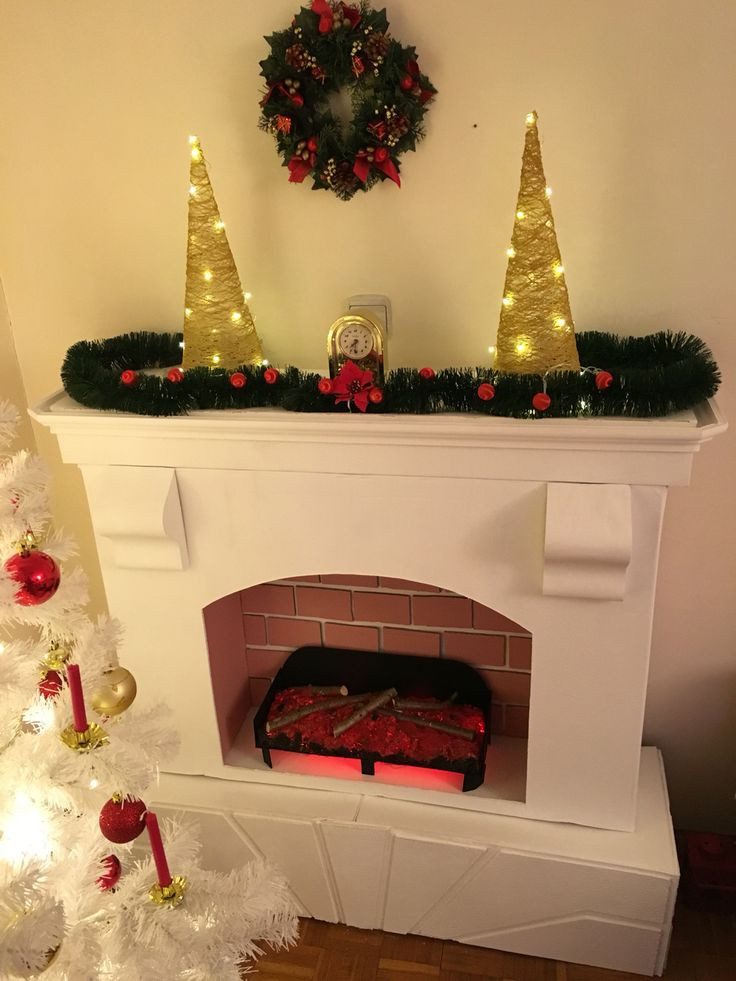 Christmas Cardboard Fireplace  1000 ideas about Cardboard Fireplace on Pinterest