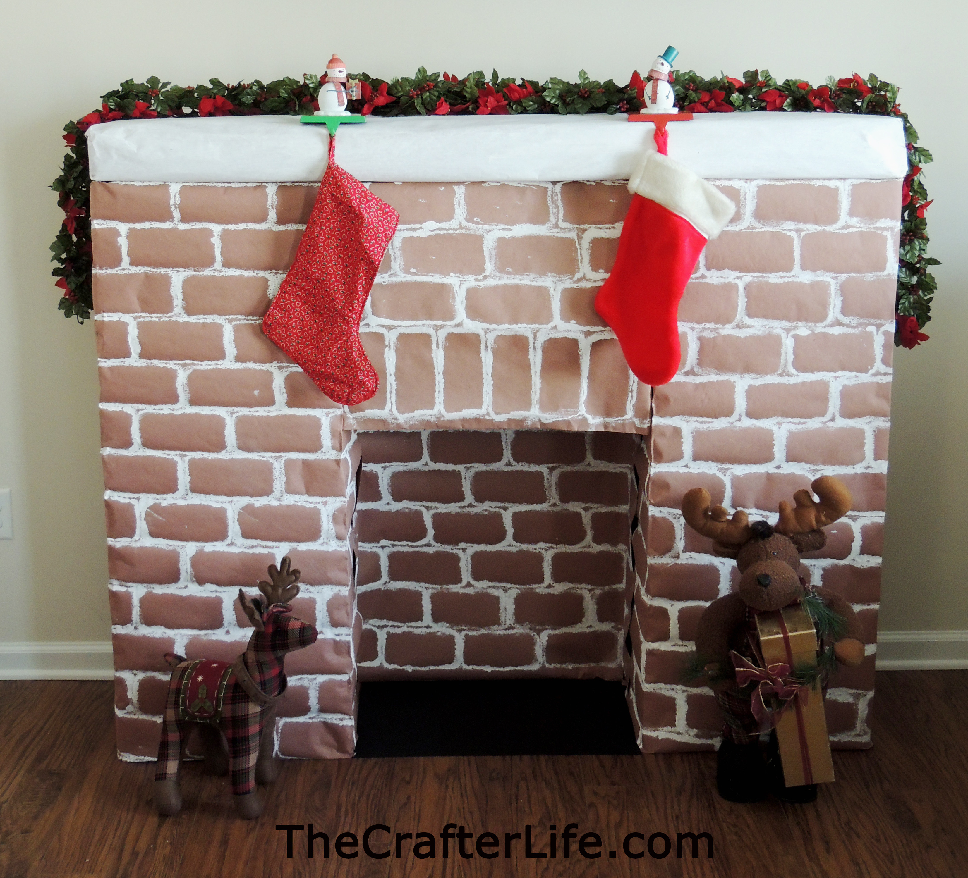 Christmas Cardboard Fireplace  Cardboard Fireplace The Crafter Life