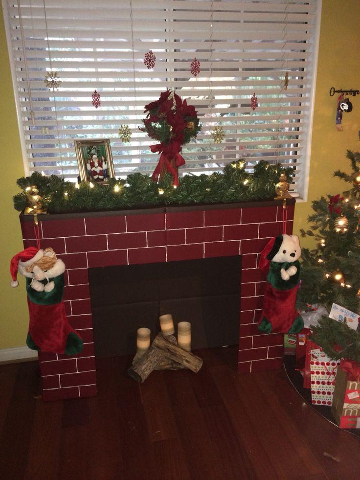Christmas Cardboard Fireplace  25 best ideas about Cardboard fireplace on Pinterest