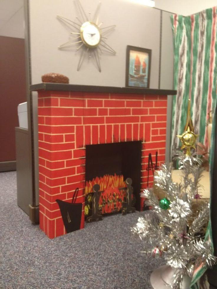 Christmas Cardboard Fireplace  The 25 best Cardboard fireplace ideas on Pinterest