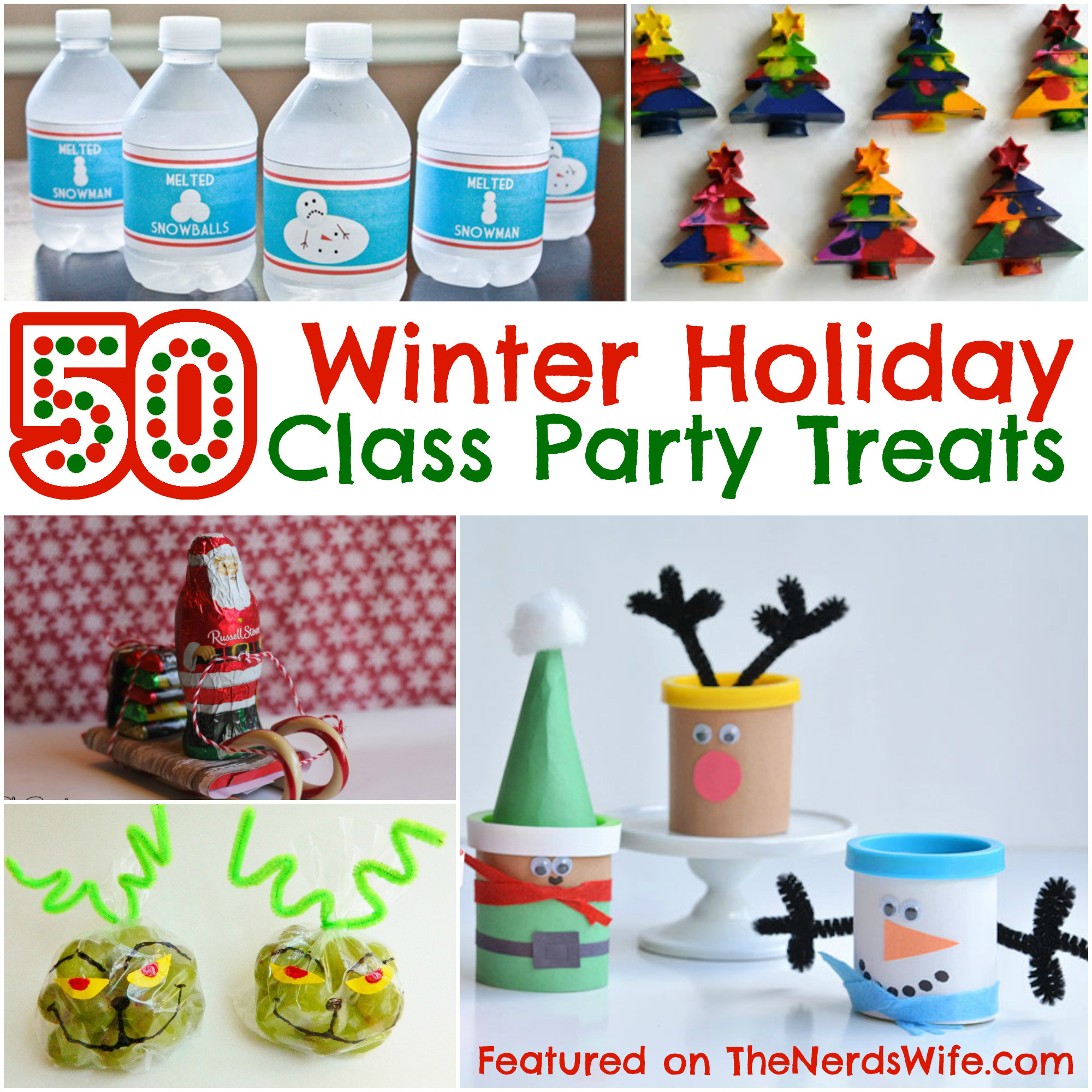 Christmas Class Party Ideas  50 Winter Holiday Class Party Treats