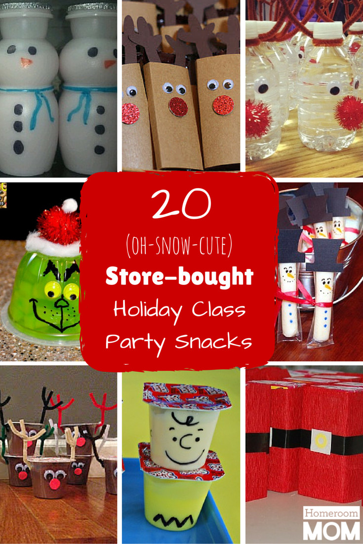 Christmas Class Party Ideas  20 Pre packaged Winter Holiday Class Party Snacks
