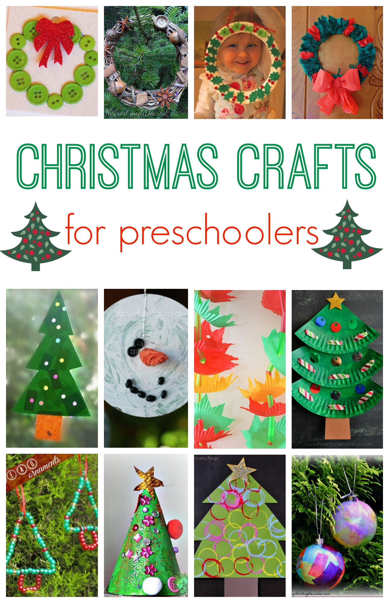 Christmas Craft Ideas For Pre School  101 Christmas Crafts for Kids Here e the Girls