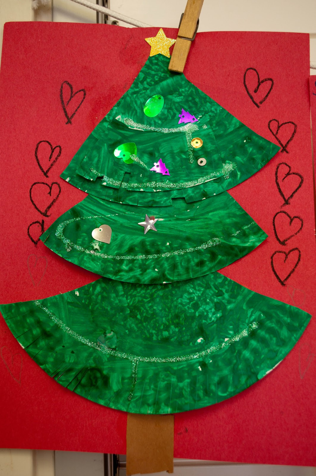 Christmas Craft Ideas For Pre School  Mrs Ricca s Kindergarten Christmas Tree Craft