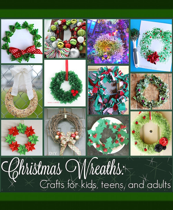 Christmas Crafts For Teens  Origin of Wreaths and 10 Christmas Wreath Projects for