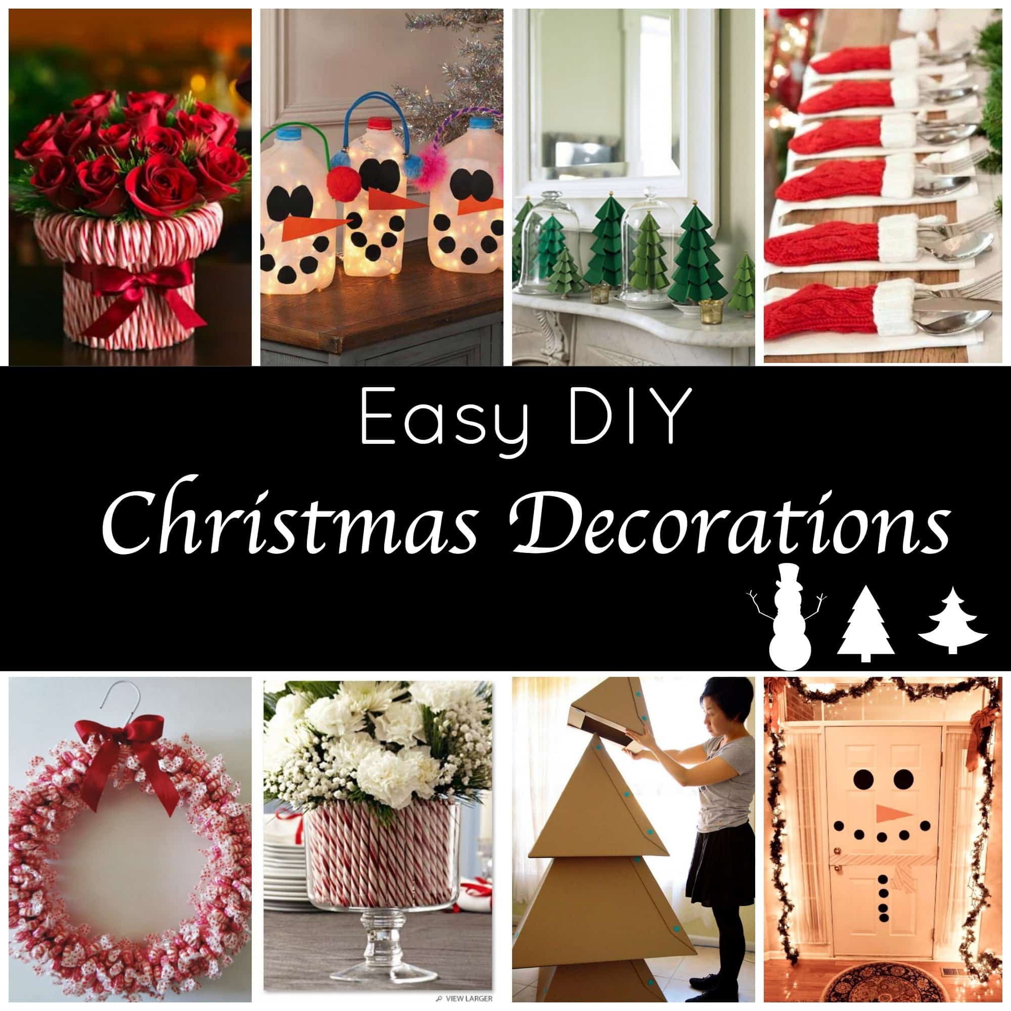 Christmas Decoration Ideas DIY  Cute and Easy DIY Holiday Decorations for a Festive Home