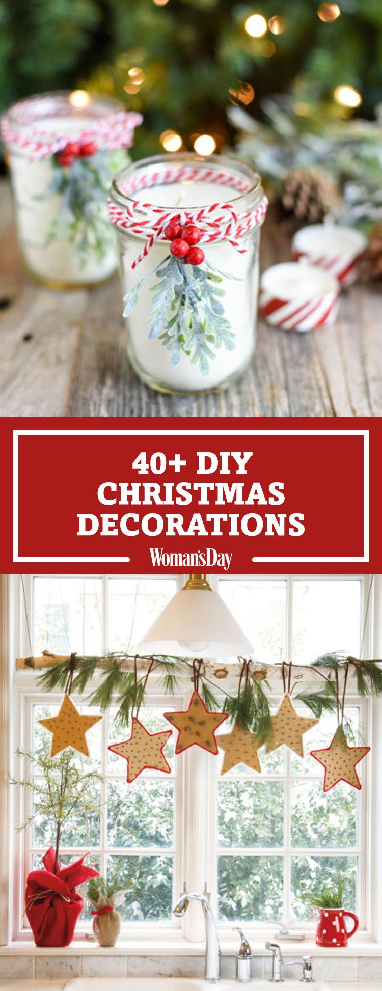 Christmas Decoration Ideas DIY  47 Easy DIY Christmas Decorations Homemade Ideas for