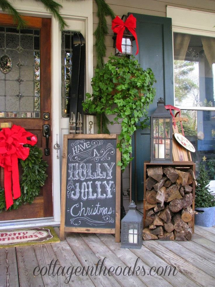 Christmas Decorations For Front Porch  25 Top outdoor Christmas decorations on Pinterest Easyday