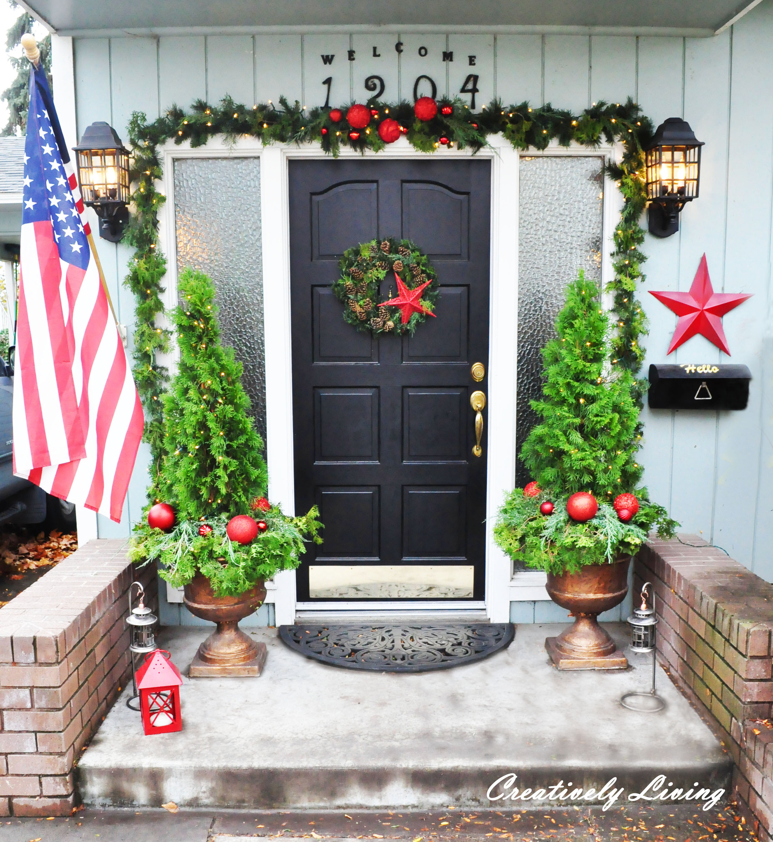 Christmas Decorations For Front Porch  Christmas Front Porch Creatively Living Blog