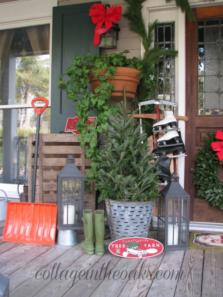 Christmas Decorations For Front Porch  2321 best images about Christmas on Pinterest