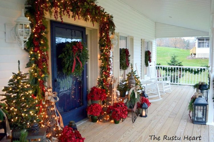 Christmas Decorations For Front Porch  Elegant Christmas Decorating Ideas for You