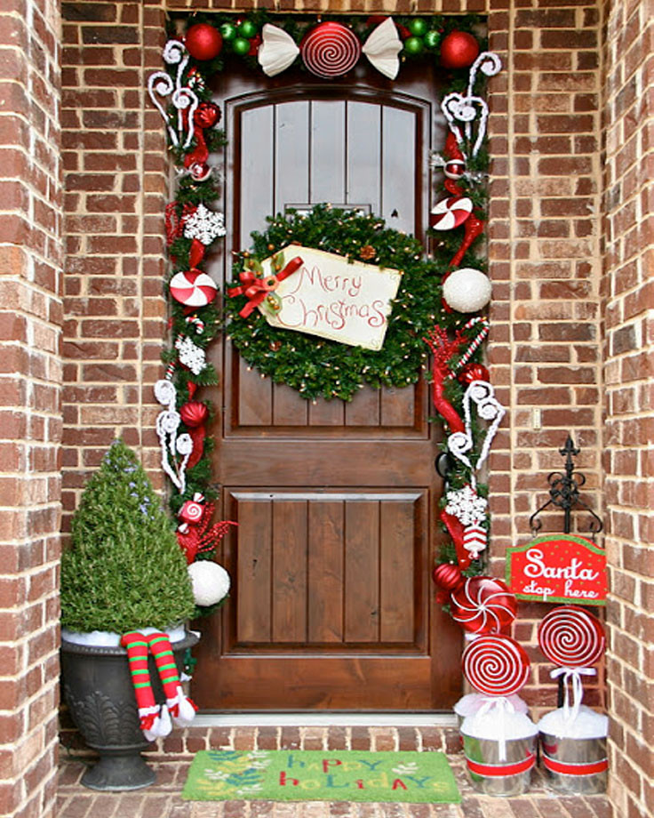 Christmas Decorations For Front Porch  Top 10 Inspirational Christmas Front Porch Decorations