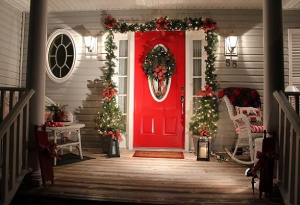 Christmas Decorations For Front Porch  Wonderful Christmas Decorating Ideas for 2016 Christmas