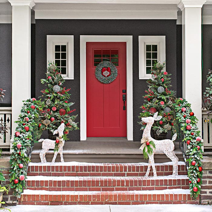 Christmas Decorations For Front Porch  Christmas Decor for Front Porches
