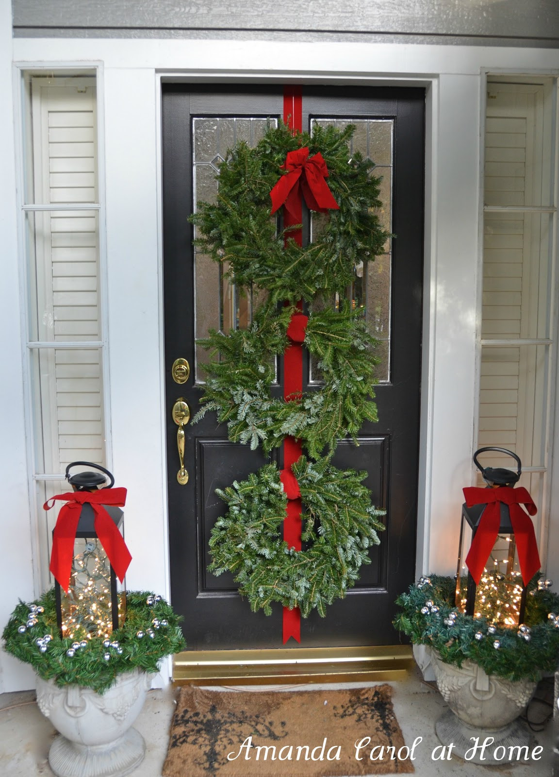 Christmas Decorations For Front Porch  Rustic Front Porch Ideas
