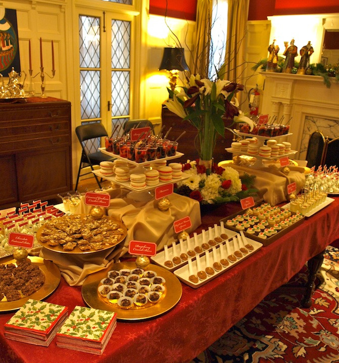 Christmas Dessert Ideas For Party  a party style xmas in july holiday dessert table