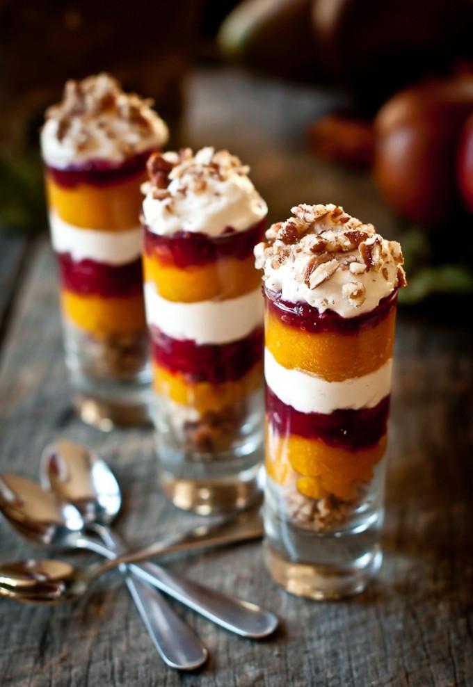 Christmas Dessert Ideas For Party  Ginger Pumpkin Cranberry Parfait Shot – Healthy Christmas