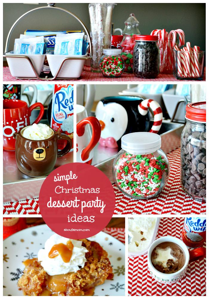 Christmas Dessert Ideas For Party  Simple Holiday Hot Chocolate Bar About A Mom