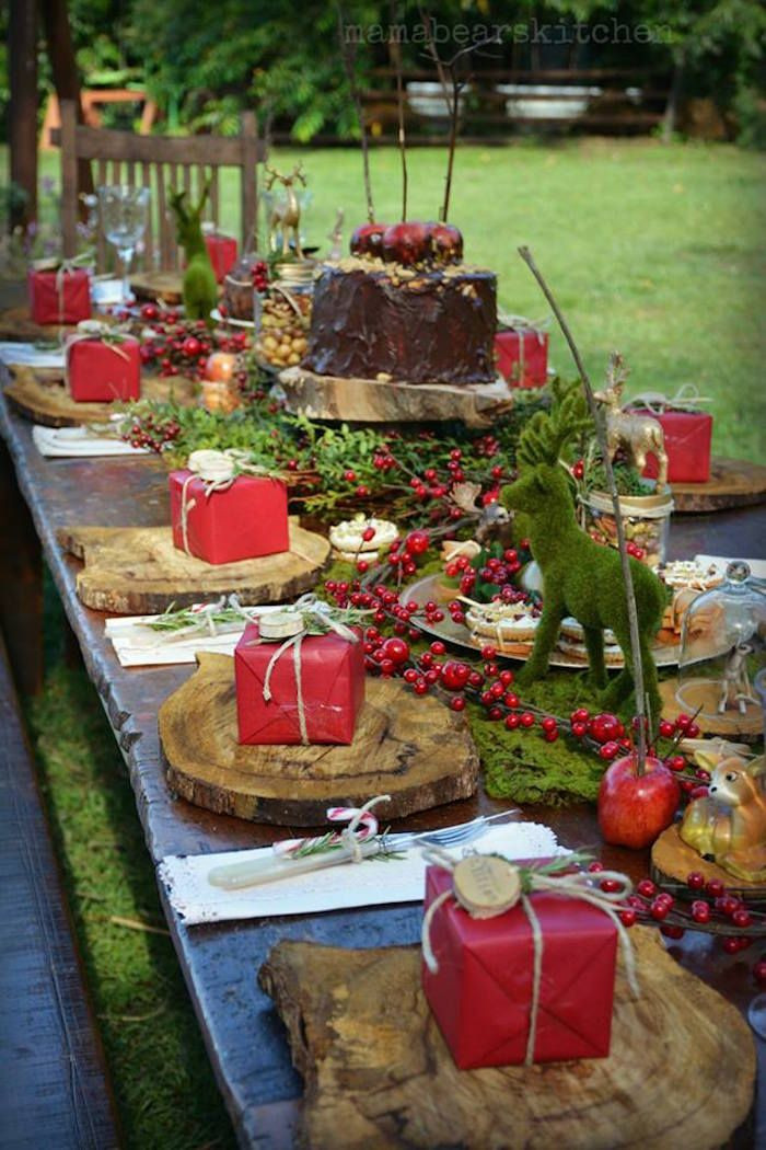 Christmas Dinner Party Ideas  Rustic Vintage Woodland Party Christmas Birthday