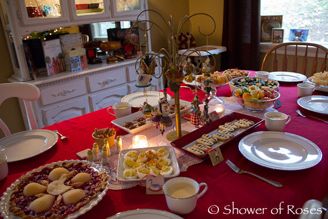Christmas Dinner Party Ideas  Shower of Roses Our Twelve Days of Christmas Dinner Party