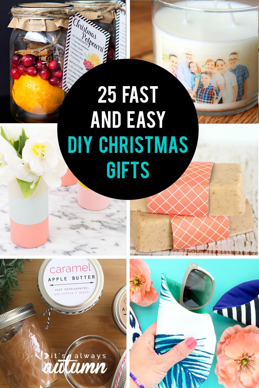 Christmas DIY Gifts  25 easy homemade Christmas ts you can make in 15