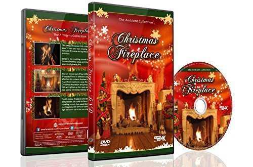 Christmas Fireplace Dvd  Christmas DVD Christmas Fireplace with Long Wood Fire