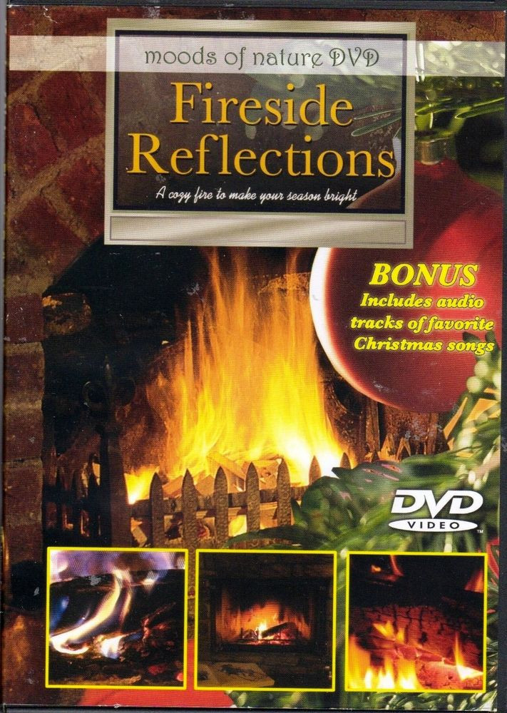 Christmas Fireplace Dvd  FIRESIDE REFLECTIONS CHRISTMAS HOLIDAY FIREPLACE DVD w