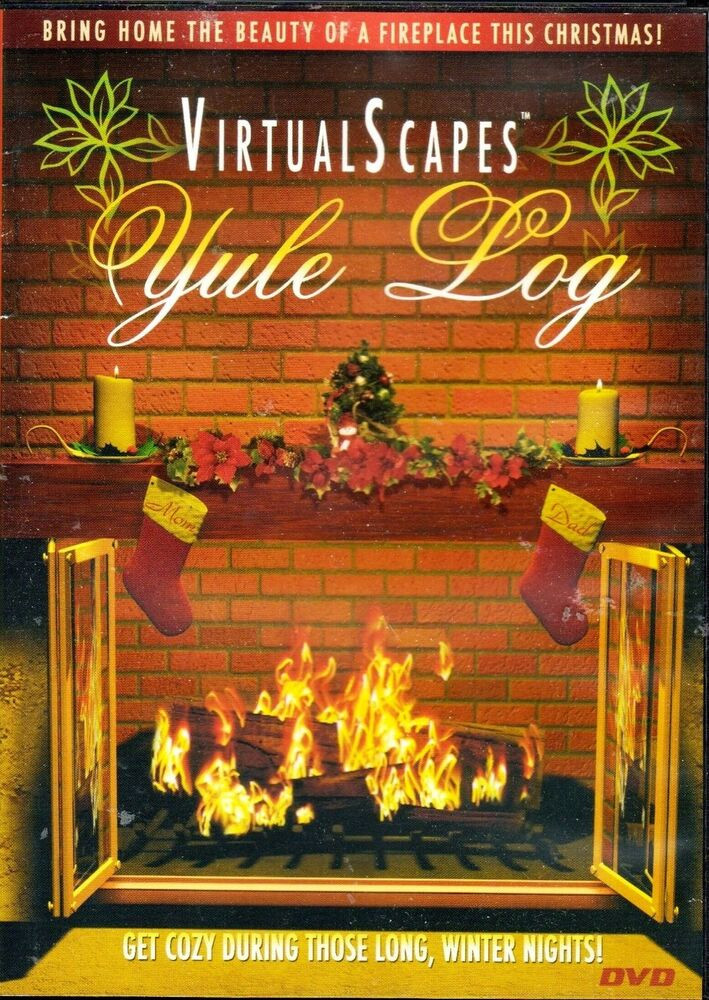 Christmas Fireplace Dvd  VirtualScapes YULE LOG CHRISTMAS HOLIDAY HOME FIREPLACE