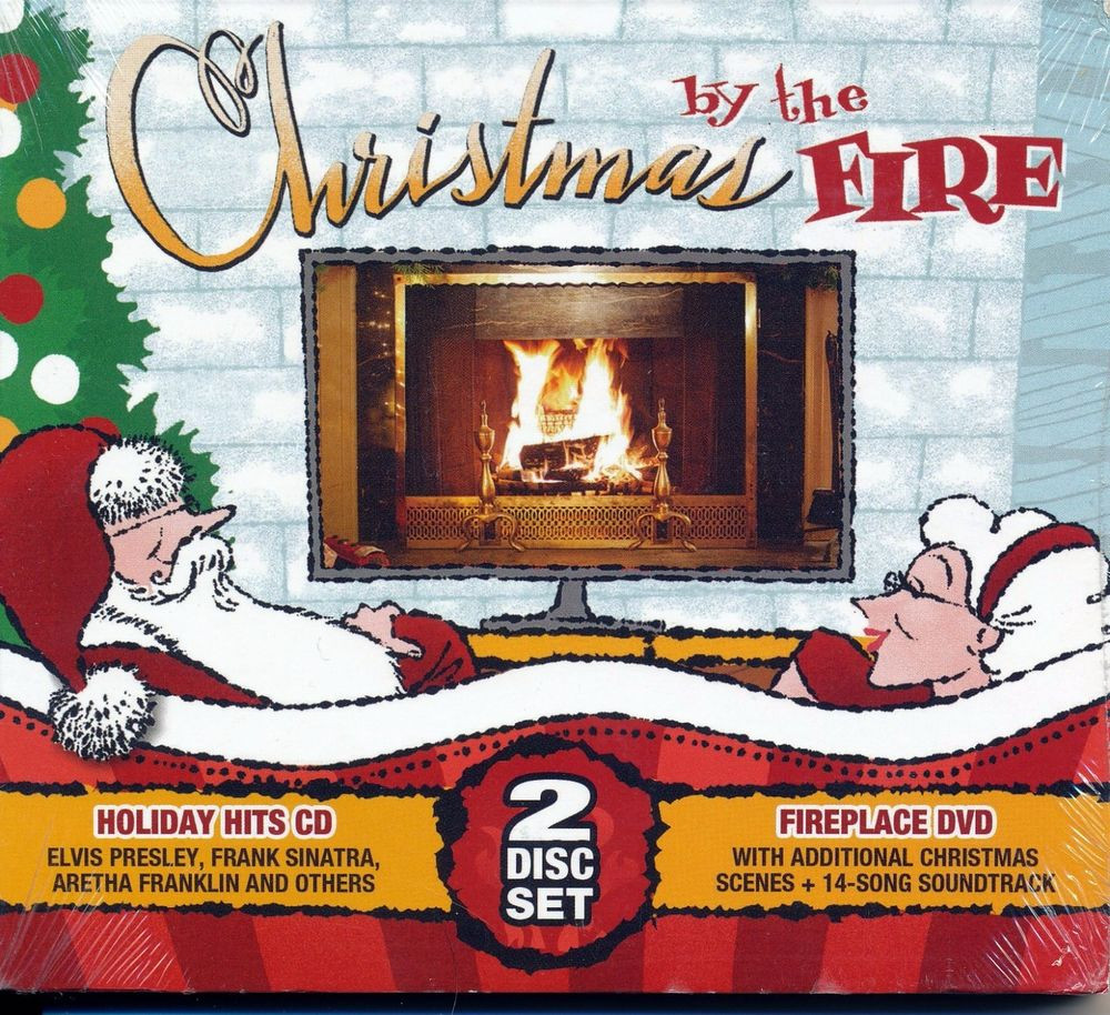 Christmas Fireplace Dvd  CHRISTMAS BY THE FIRE 2 DISC SET HOLIDAY HITS CD