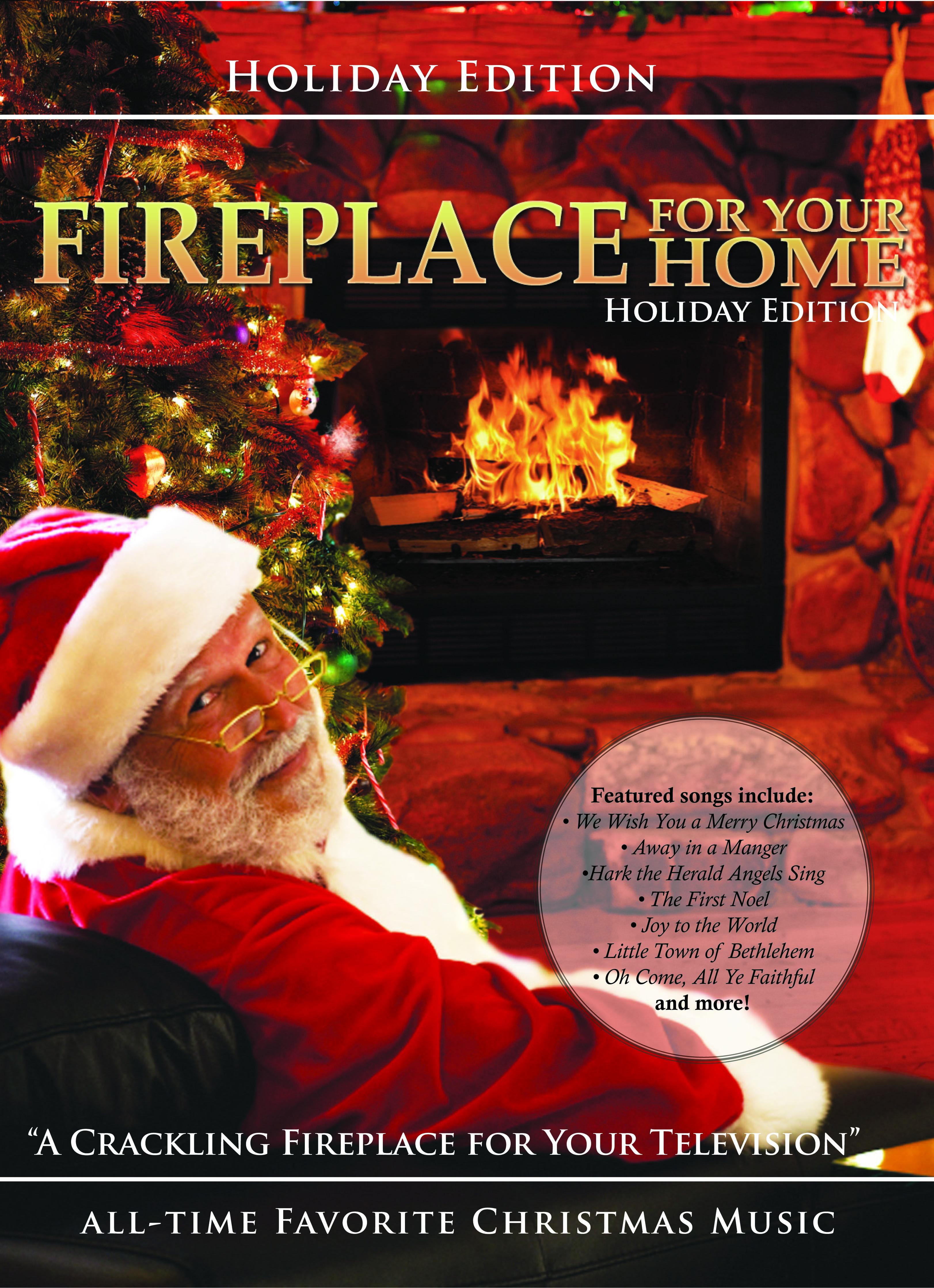 Christmas Fireplace Dvd  Fireplace DVD Holiday Yule Log Edition Christmas Music