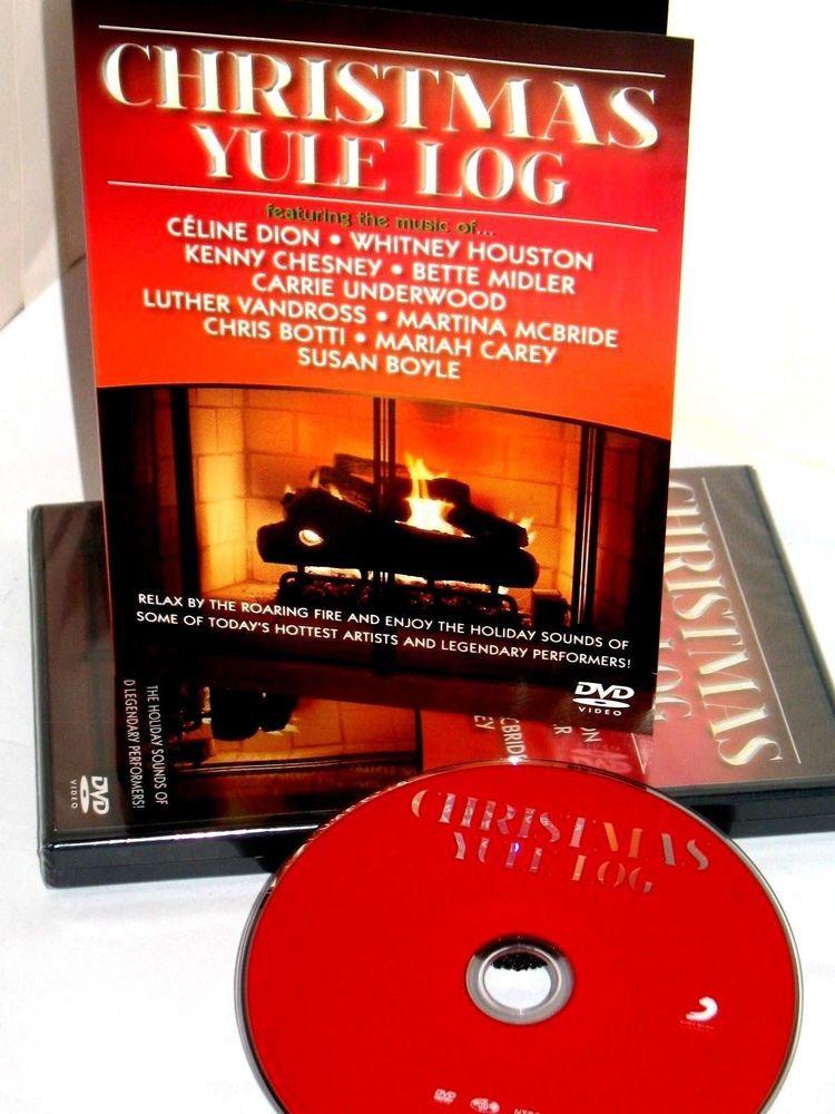 Christmas Fireplace Dvd  CHRISTMAS YULE LOG DVD FIREPLACE CARRIE UNDERWOOD WHITNEY