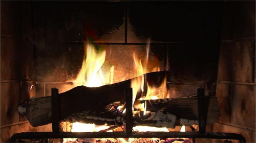 Christmas Fireplace Dvd  Ambient Fire Video Fireplace DVD Premium Fake Fireplace DVD