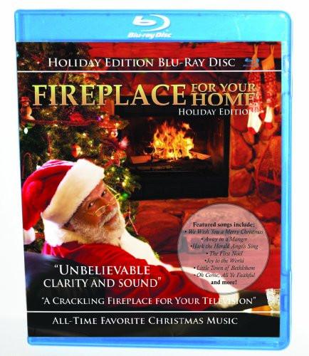 Christmas Fireplace Dvd  Fireplace Holiday [Blu ray] Home Garden Wood Stove